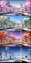Mirai Millennium School BG by ~Pinakes on deviantART