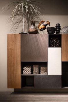 The day modular system designed by Piero Lissoni is enriched with new finishes. Tv Stand Designs, Resins, Tv Unit, Precious Metals, Apartments, Marble, Powder, It Is Finished, Living Room