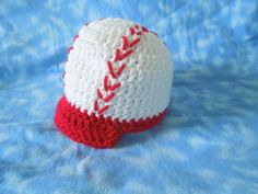 Baby Boy Knit Hat Baseball Crochet 0 to 3 by HippityHoppityHats, $15.00
