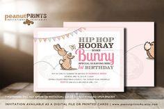 Some Bunny's Birthday Party Invitation by PeanutPRINTS4u
