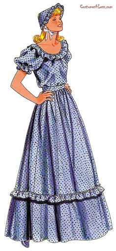 Pattern For Pioneer Dress 2 Piece Costume at Costumes4Less.com
