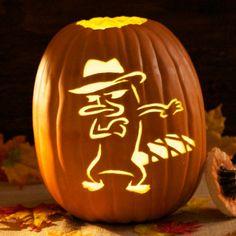 Agent P Pumpkin Carving Template