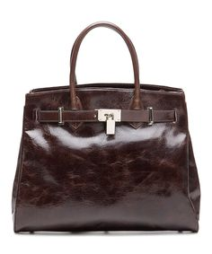 Look at this #zulilyfind! Brown Shelby Leather Satchel by Vicenzo Leather #zulilyfinds