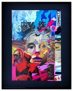 connect, 40x50cm paper collage 2017 #paperart #papercut #collage