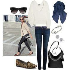 A fashion look from December 2013 featuring Acne Studios sweaters, AG Adriano Goldschmied jeans and Kenneth Cole flats. Browse and shop related looks.