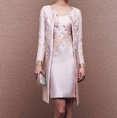 fd59389d29 Jaqueta Rosa Claro Longa Mãe da Noiva Vestidos ocasião formal das mulheres  roupas Occasion Dresses