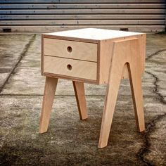Bedside Table With Soft Closing Draw Made From Russian Birch Plywood