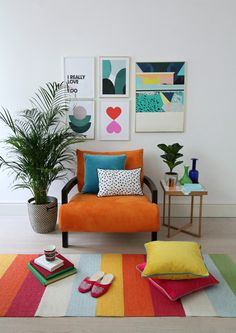 How I styled my orange sofa Novita Swing chair from Furniture village. # colorful Home Decor orange sofa Novita Swing chair from Furniture village. Furniture Village, Home Decor Furniture, Office Furniture, Orange Furniture, Diy Furniture Couch, Furniture Plans, Kids Furniture, Home Design, Home Interior Design