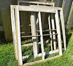 Mighty Crafty: What to do with old Window Frames