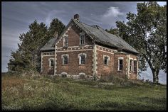 Domestic Decay, abandoned farm house in rural Ontario