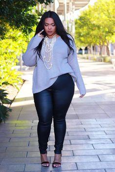 45 casual and comfy plus size fall outfits ideas - addicfashion Curvy Girl Fashion, Look Fashion, Autumn Fashion, Fashion Outfits, Fashion Ideas, Womens Fashion, Fashion Tips, Fashion Trends, Fashion 2018