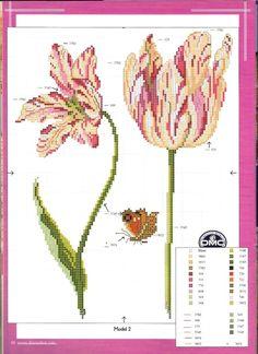 Gallery.ru / Фото #24 - 52 - kento Embroidery Patterns, Cross Stitch Patterns, Cross Stitch Needles, Stitch 2, Cross Stitch Flowers, Cross Stitching, Crafts To Make, Needlework, Floral