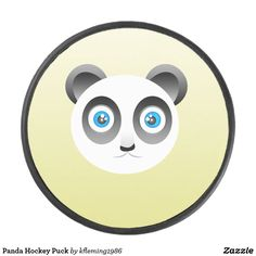 Shop Panda Hockey Puck created by Personalize it with photos & text or purchase as is! Hockey Gear, Hockey Puck, A Team, Panda, Panda Bear, Pandas