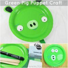 "Green Pig Craft: Use the completed ""rackets"" to play Balloon Badmitton (game at http://www.icanteachmychild.com/2012/08/balloon-badminton/)"