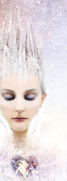 Fairy tale inspiration: Queen of ice and snow / karen cox.  Ice Queen Make up