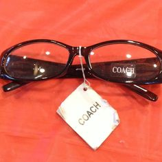 1bdad8039a COACH eyeglass sunglass frames NWT COACH brown frame glasses with clear  lenses. Made in Italy. Sample eye glass or sun glass frames can be used for  ...