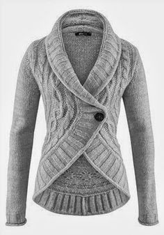 Single Button Wire Knit Cardigan