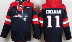 Julian Edelman Navy Blue Player Pullover NFL Hoodie