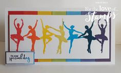 Designed by Sarah Bell using Prism Ink Pads and Twirling Ballerinas Stamps by For the Love of Stamps by Hunkydory