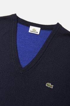 #Lacoste Merino Wool #Color Block Jersey V-Neck #Sweater Latest Mens Fashion, Men's Fashion, Dressed To Kill, Lacoste, Merino Wool, Sportswear, Character Design, Polo Ralph Lauren, Footwear