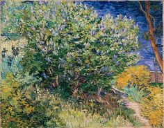 Van Gogh, Lilacs, May 1889. Oil on canvas, 73 x 92 cm. The State Hermitage Museum, St. Petersburg.