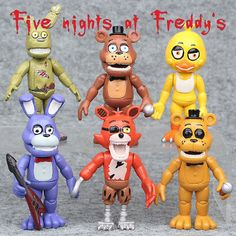 6 Pcs//Set Five Nights At Freddy/'s FNAF Action Figures Kids Gift Toys CakeToppers