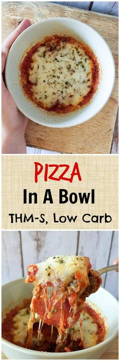 Pizza in a Bowl (THM-S, Low Carb)
