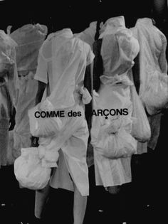 · Comme des Garçons photo campaign · Black and white fashion photography… Rei Kawakubo, Fashion Advertising, Advertising Campaign, Brand Campaign, Monochrom, Comme Des Garcons, Mode Inspiration, White Fashion, Luxury Branding