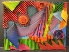 Abstract Cardboard Assemblage