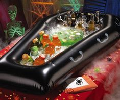 Jalaya New Halloween Inflatable PVC Simulation Coffin Drink Cooler Ice Buckets Toy Event Item Party Decoration Supplies 30th Birthday Themes, 21st Birthday Checklist, Birthday Bash, Birthday Decorations, Halloween Decorations, Birthday Ideas, 20s Party, Party Time, Funeral Party