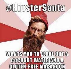 Hipster Santa - Funny Christmas Meme