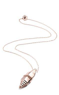 Rose Gold Bullet Pendant by Eddie Borgo - Moda Operandi
