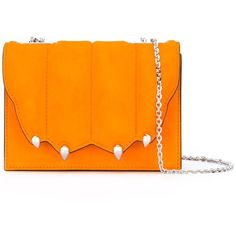 Marco De Vincenzo paw effect cross body bag ($816) ❤ liked on Polyvore featuring bags, handbags, shoulder bags, leather cross body handbags, crossbody shoulder bag, orange crossbody, orange purse and genuine leather shoulder bag
