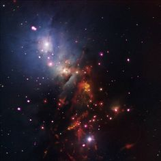 Composite image of star cluster NGC 1333 July 4, 2015 Stellar Sparklers That Last - While fireworks only last a short time here on Earth, a bundle of cosmic sparklers in a nearby cluster of stars will be going off for a very long time. NGC 1333 is a star cluster populated with many young stars that are less than 2 million years old, a blink of an eye in astronomical terms for stars like the Sun expected to burn for billions of years....