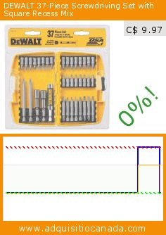 DEWALT 37-Piece Screwdriving Set with Square Recess Mix (Tools & Hardware). Drop 62%! Current price C$ 9.97, the previous price was C$ 26.28. https://www.adquisitiocanada.com/dewalt/37-piece-screwdriving-set