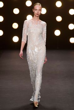#thecut Naeem Khan Amazing white sequin dress, makes me want to have a wedding.