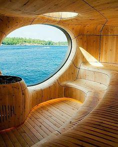Grotto Sauna - #GeorgianBay #Ontario #Canada Courtesy of @Architectdesigne - Credits: ©Partisans