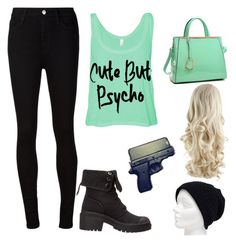 """""""Psycho"""" by mag13rich ❤ liked on Polyvore featuring AG Adriano Goldschmied, Marc by Marc Jacobs and Dasein"""