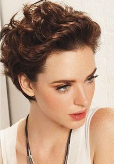 curly haircut short sides women - Google Search