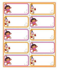 Dora Party Name Tags!