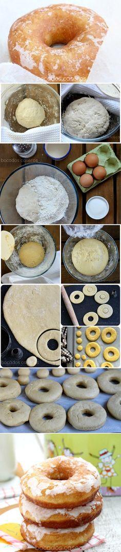 donuts de azucar, donuts clasicos, donoughts, donut recipe, receta