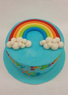 Perfect for Pride or a colourful birthday party - it's our Yummy Rainbow Cake! Colorful Birthday Party, Birthday Parties, Birthday Cakes, Birthday Ideas, Fondant, Pride, Rainbow, Desserts, Food