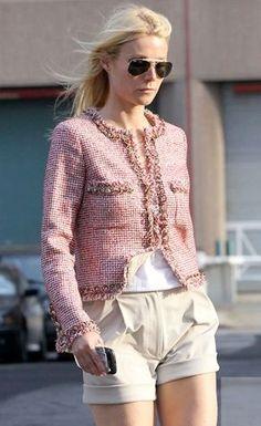 Classic Pink Tweed Chanel Jacket on Gwyneth Paltrow