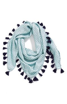 Free shipping and returns on Hinge  Textured Square Scarf at Nordstrom.com. A textured lattice weave lends tactile dimension to a seriously chic solid scarf.