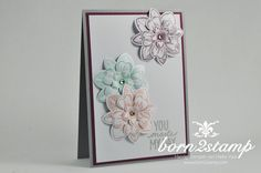 STAMPIN 'UP!  born2stamp Petal Potpourri Flower Shop Petite Petals Best day ever