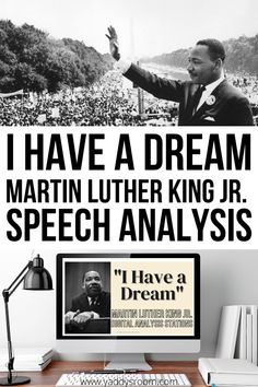 """This speech analysis activity will serve as a springboard for teachers to analyze MLK's """"I Have a Dream"""" speech. Students will answer prior knowledge questions, look up the historical context… More Springboard, I Have A Dream, Reading Passages, King Jr, Martin Luther King, Literature, Knowledge, Students, Teaching"""