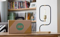 Groove Lamp Handmade Pipe Accent Lamp with by KitboxDesign