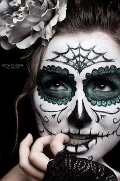 Calavera. Makeup Halloween inspiration.