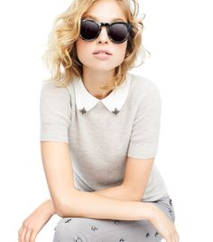 J.Crew Fall 2013. The tipped collar and Cutler and Gross sunnies are subtle perfection.