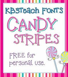 FONTS: KB3 Candy Stripes 5-Font Set (FREE for Personal Use)